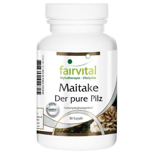 Maitake Der pure Pilz 500mg, Grifola frondosa Pilzpulver 90 vegetarische Kapseln