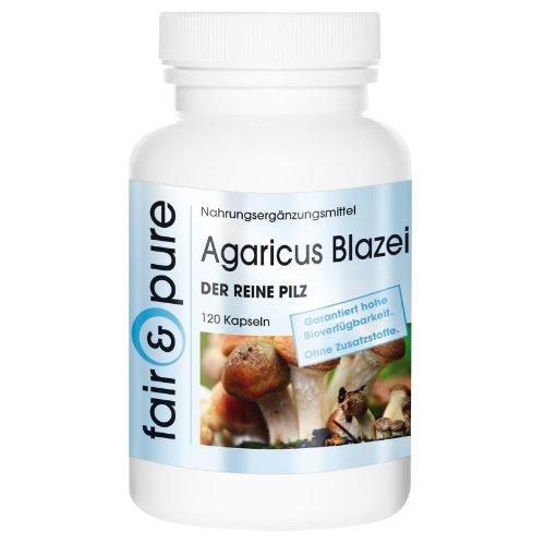 Agaricus Blazei 650mg – Der Reine Pilz (ABM, Agaricus Blazei Murill) 120 Kapseln