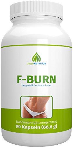 Green Nutrition – F-Burn – 90 Kapseln – 100% Natürlich – Guarana Extrakt – Grüner Kaffee – Grüner Tee – B6 & B12 Vitamine – geeignet für Frauen und Männer – 1er Pack