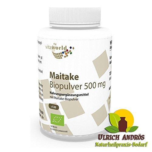 Maitake Pulver Bio Qualität 500mg 120 Kapseln