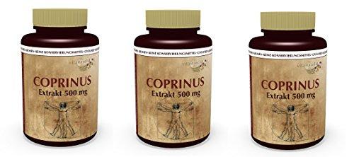 Coprinus Extrakt 500mg 300 Kapseln 3er Pack