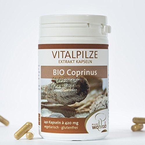 Bio Coprinus Vitalpilz Extrakt-Kapseln 240 Kapseln Pilze Wohlrab