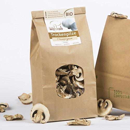 Champignon getrocknet Bio 100g Pilze Wohlrab