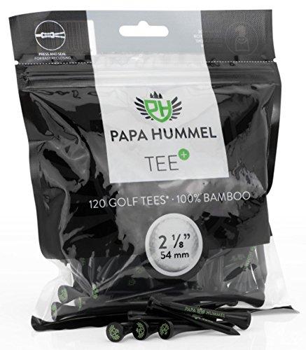 Premium Golf Tees 54mm 120 Stück 100% Bambus