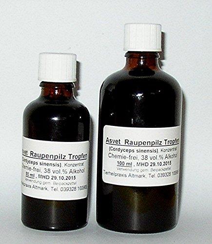 Cordyceps Tropfen 50ml Raupenpilz Extrak Tinktur Vitalpilz Konzentrat